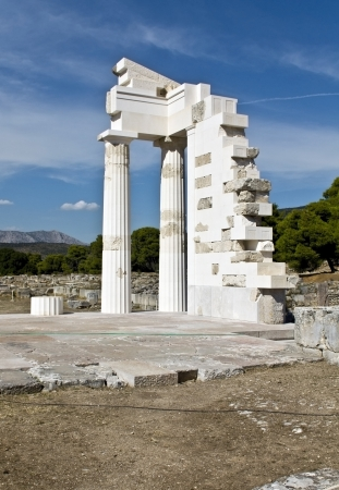 peloponissos: Asklipios temple at Epidaurus in Greece  Stock Photo