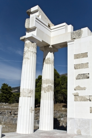 peloponissos: Asklipios temple at Epidaurus in Greece