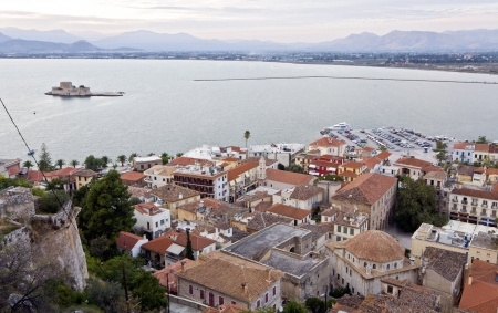 peloponissos: Medieval Nafplio city at Peloponnese, south Greece