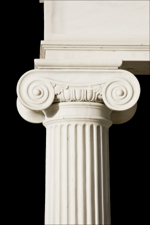 Detail of an ancient Greek pillar of ionic order  photo