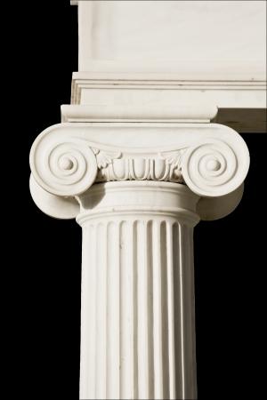 Detail of an ancient Greek pillar of ionic order