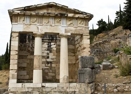 delfi: Treasure of the Athenians at Delphoi in Greece