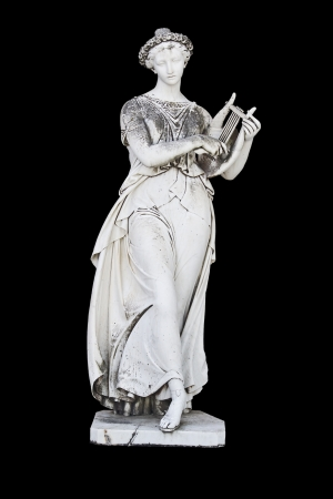 muse: Ancient greek statue showing a mythical muse