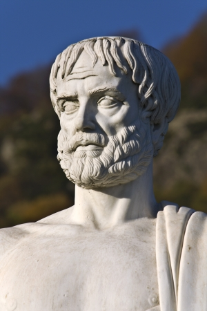 philosophy: Aristotle statue located at Stageira of Greece