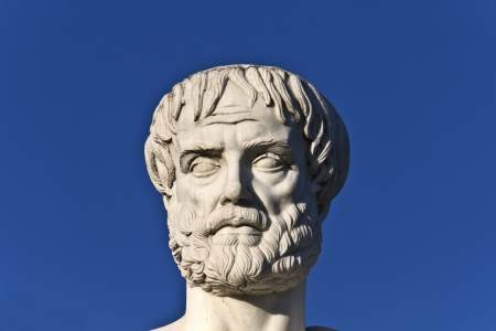 Aristotle statue located at Stageira of Greece Stock Photo - 15906494