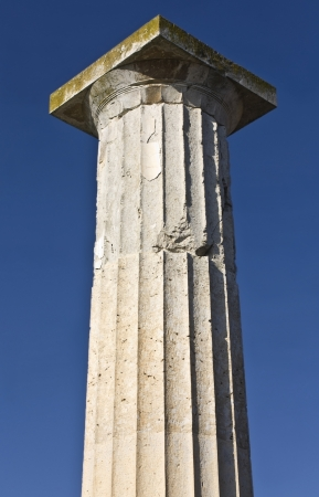 Ancient Greek pillar of doric rhythm photo