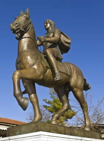 alexander great: Alexander the Great statue at ancient Pella, Greece
