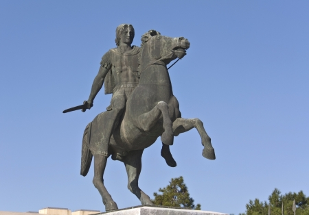 alexandros: Alexander the Great statue at Thessaloniki in Greece