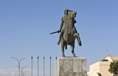 Alexander the Great statue at Thessaloniki in Greece  photo