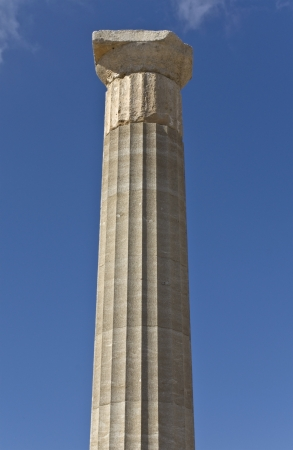 doric: Columna d�rica griega acr�polis de Lindos, Rodas