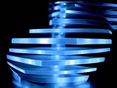 Abstract blue decorative light photo