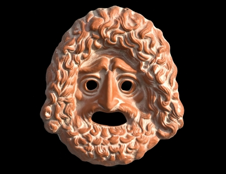 Mask used from actors on Greek ancient tragedy