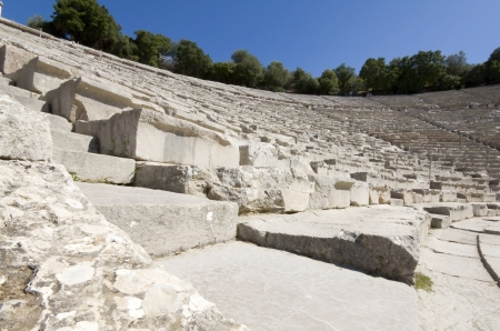 arkadia: Ancient amphitheater of Epidaurus in Greece