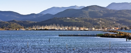 ionio: Island and city of Lefkada at ionio, Greece Stock Photo