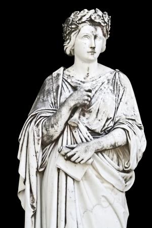 statue grecque: Ancienne statue grecque repr�sentant un philosophe classique Banque d'images