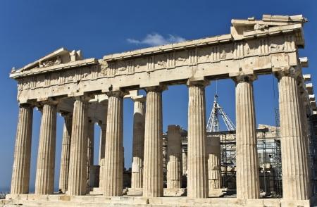 economic revival: Parthenon temple at the Acropolis of Athens in Greece  temple of Goddess Athena
