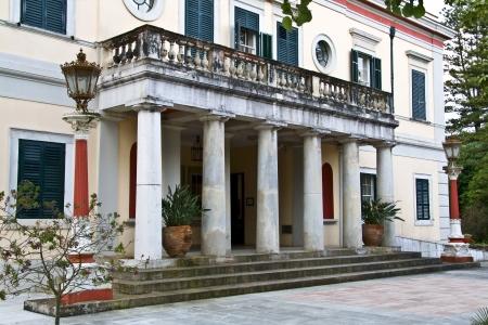 repo: Mon Repo palace in Corfu island, Greece  Stock Photo