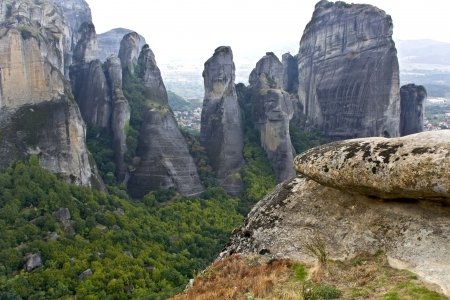 kalambaka: Meteora peaks at Kalambaka city at central Greece