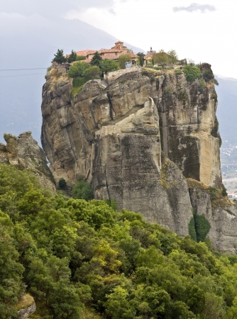 strange mountain: Orthodox monastery at Meteora in Greece