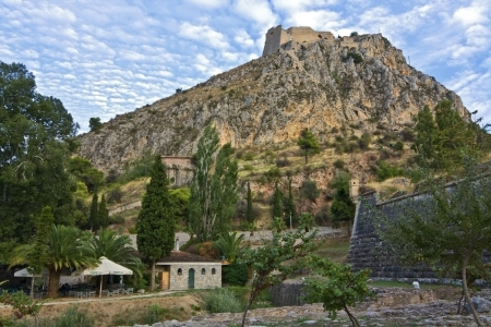 peloponissos: Nafplio city and Palamidi castle in Greece