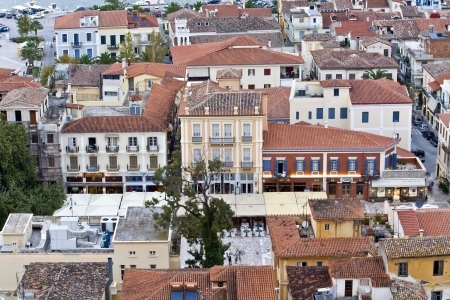 arkadia: Traditional Nafplio city at Peloponnese, south Greece  Stock Photo