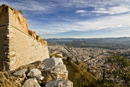 arkadia: Nafplio city and Palamidi castle in Greece