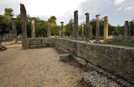 The  Palaistra  at ancient Olympia in Greece  photo