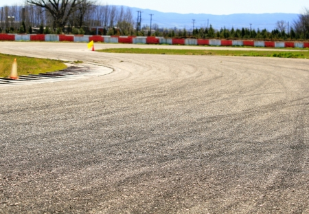 Speedway used for drift races  photo