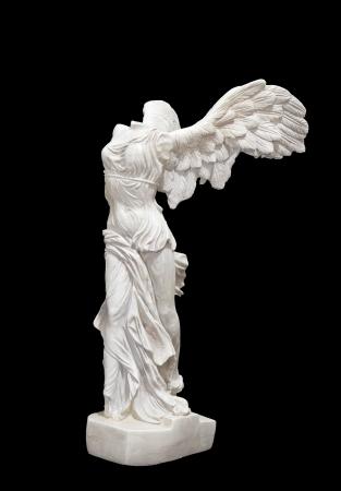 Greek classical statue of Nike of Samothrace, Louvre Paris Stock Photo