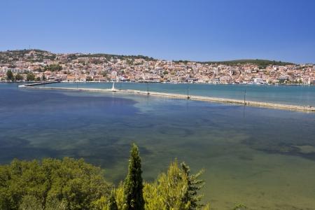 kefallinia: City of Argostoli at Kefalonia island in Greece