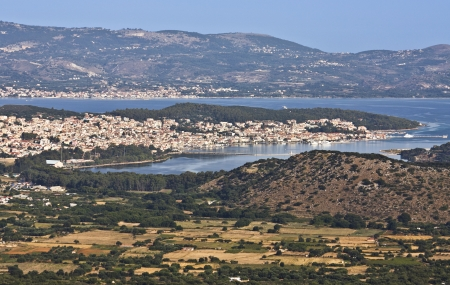 kefallinia: Argostoli view from Kefalonia island in Greece Stock Photo