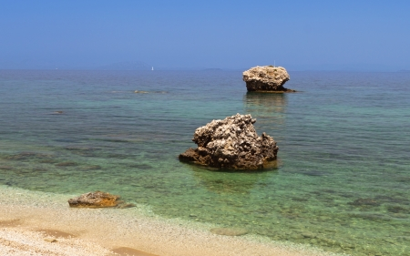 Sandrocks formation at Kefalonia island in Greece