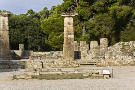 Ancient Olympia archaeological site in Greece  photo