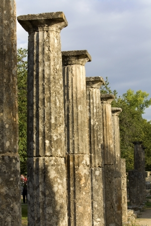 arkadia: The  Palaistra  at ancient Olympia in Greece