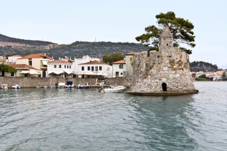 Scenic fishing port of Nafpaktos city in Greece  Stock Photo - 15922165