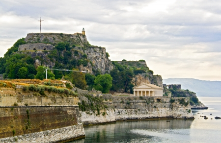 Old fortress at Corfu island in Greece Stock Photo - 15911032