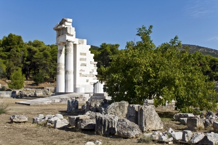 peloponissos: Asklipios temple at Epidaurus, Peloponnese, Greece