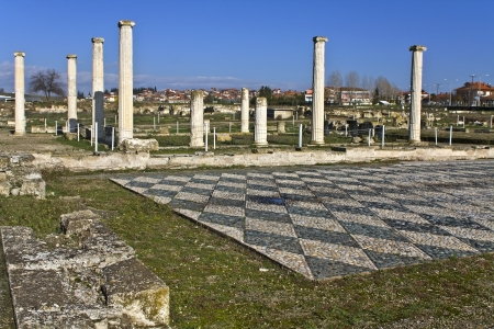 alexandros: Ancient Pella at Macedonia, Greece Stock Photo