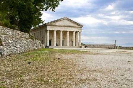 ionio: Greek temple at Corfu island in Greece