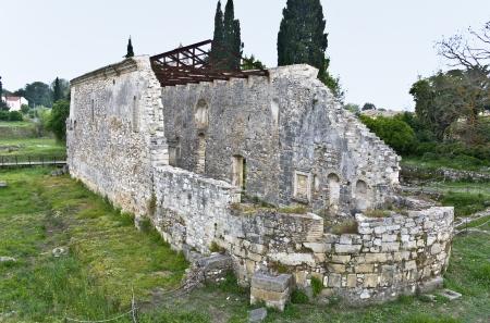 basillica: Old Basilica church at Corfu island in Greece