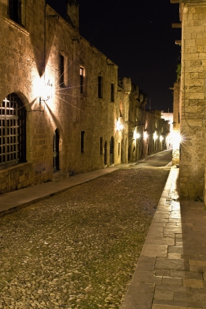 Medieval city of Rhodes in Greece photo