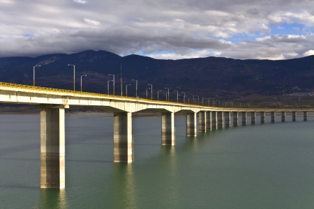 Bridge at Greece over Aliakmon river  Stock Photo - 15909938