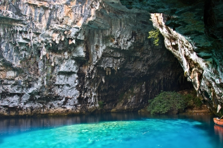 kefallonia: Limnetic cave of Melissani at Kefalonia island in Greece