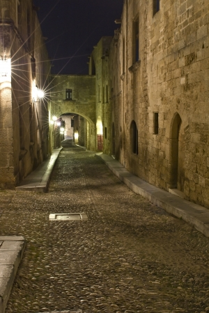 Medieval city of Rhodes island at Greece photo