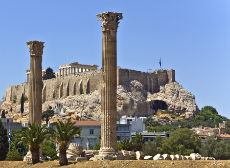 Temple of the Olympian Zeus in Athens, Greece  photo