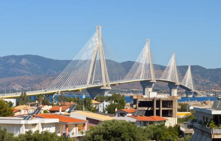 Cable stayed bridge of Patras city in Greece