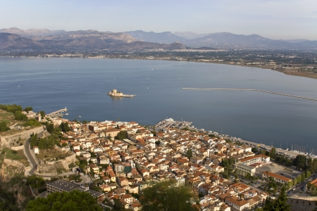 peloponissos: Nafplio city at Peloponnese, south Greece  Stock Photo