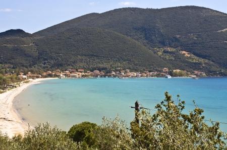ionio: Port of Vasiliki at Lefkada island, Greece  Stock Photo