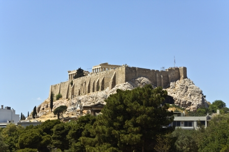The Acropolis of Athens in Greece photo