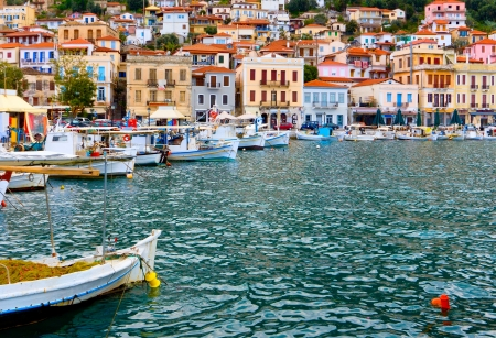 peloponnise: Traditional fishing village of Gytheio in Greece